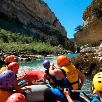 Descenso en balsa por el río Irati